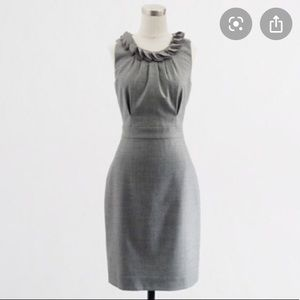 J. Crew Gray Wool Leigh Sheath Career Dress